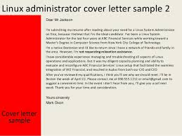 admin cover letter exles linux administrator cover letter