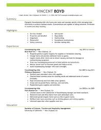 Resume Templates For Housekeeping Attractive Design Housekeeping Resume Sle 2 Unforgettable