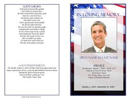 templates for funeral program funeral program templates patriotic us