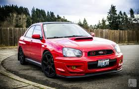 subaru 2004 slammed red all the way down to the hella u0027s red wrx u0027s pinterest jdm