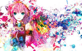 Paint Splatter Wallpaper by Paint Splash Of Megurine Luka Vocaloid Wallpaper Anime