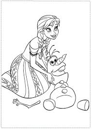 anna and olaf coloring pages coloring page