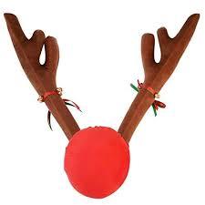 car reindeer antlers tezam christmas car decoration plush rudolf reindeer antler and