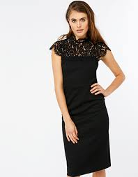 black dress uk monsoon ponte lace dress black 16 3433620116
