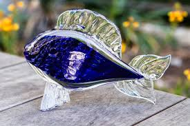 7 glass fish with infused cremation ashes by 149 00