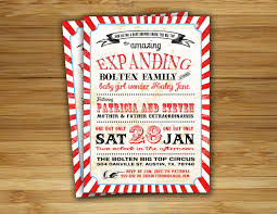 circus baby shower invitation carnival baby shower boy