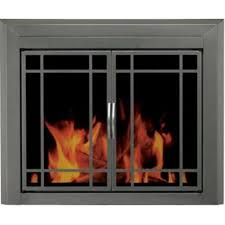 shop pleasant hearth edinburg gunmetal large cabinet style