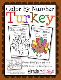 Thanksgiving Color By Number Free Worksheet Thanksgiving Color By Numbers In French From