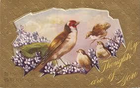 new year s postcards vintage postcard birds postcard happy new year vintage