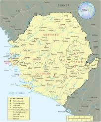Africa Map Physical by Map Of Sierra Leone Freetown Travel Africa