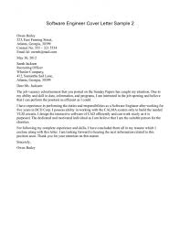cover letter for software engineer engineering cover letter