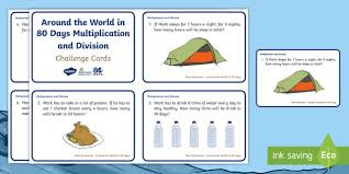 ks1 around the world in 80 days multiplication and division