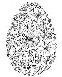 cute doodle floral easter egg stock photo art u0026 doodles