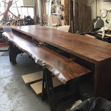 Large Live Edge Reception Desk In The Works Live Edge Custom Built - Modern furniture brooklyn