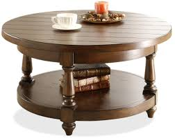 Thompson Furniture Bloomington Indiana by Riverside Furniture Newburgh Round Cocktail Table With Lower Shelf