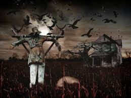 halloween background facebook preview scarecrow wallpaper feelgrafix com pinterest