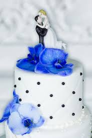 wedding cake royal blue wedding cake royal blue orchids