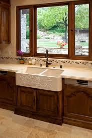 Kitchen With Farm Sink - farmhouse sink in tuscany kitchen
