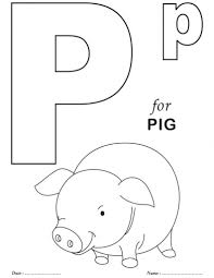 awesome in addition to interesting letter p coloring page intended