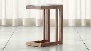 Crate And Barrel Bar Stool Parsons Travertine Top Elm Base 20x12 C Table Crate And Barrel