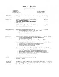 Resume Examples Teacher by Elementary Teacher Resume Examples