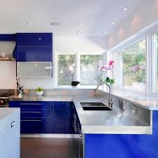 navy blue kitchen cabinets look we 10 kitchens with blue cabinets kitchn