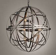 Sphere Ceiling Light Sphere Large Pendant Pewter
