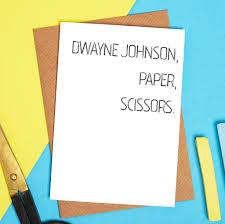 funny friend birthday card dwayne johnson rock card by