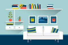animated living room background
