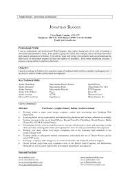 An Example Of Resume by Latest Collection Of Resume Profile Example Resume Example