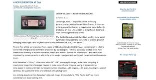 cambridge ma artscope mag mention