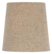 natural linen l shade upgradelights chandelier l shade clip on shade 4 inch beige linen