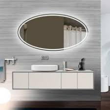 Led Lighted Mirrors Bathrooms Large Led Illuminated Bathroom Mirror For Putting Make Up