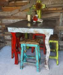 Square Bistro Table And Chairs Furniture Catalina Bar Table And Stools Set Stool Sofia S Rustic