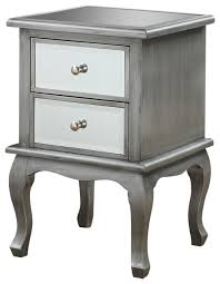 Oak End Table Gold Coast Queen Anne Mirrored End Table Transitional Side