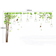 large photo frame tree easy peel and stick wall stickers