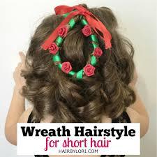 christmas wreath hairstyle for short hair hair by lori