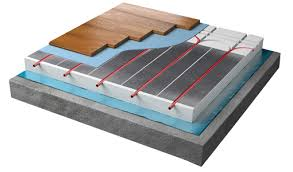contura floating system wooden floor heating warmup