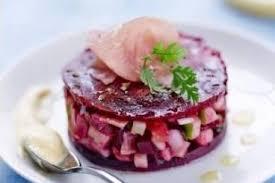recette cuisine crue recette de tartare pomme betterave au jambon cru émulsion de