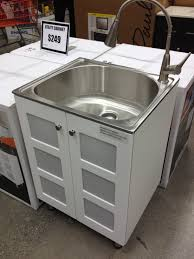stainless steel utility sink cabinet home design