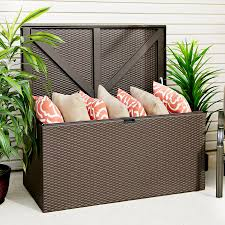 how to store pillows lawn garden outdoor patio with simple outdoor storage box to store
