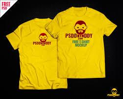 download t shirt mock up free psd psddaddy com