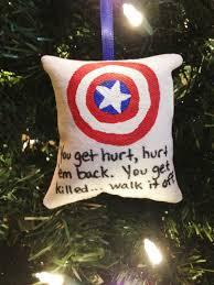 captain america walk it pillow tree ornament