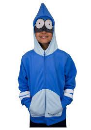 Rigby Halloween Costume Boys Regular Show Mordecai Costume Hoodie