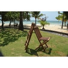 chaises salon de jardin salon de jardin en teck massif modèle java pas cher