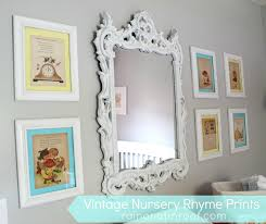 Cheap Framed Wall Art by Diy Vintage Nursery Rhyme Prints Simple U0026 Cheap