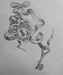 3 key with ribbon designs