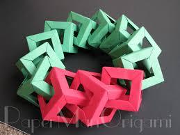 origami christmas decorations u2013 origami wreath