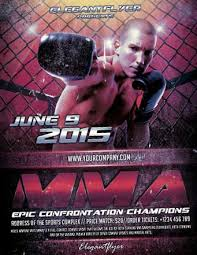 free mma boxing sports flyer template http freepsdflyer com