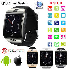 smart android bluetooth smart q18 smartwatch support nfc sim card gsm